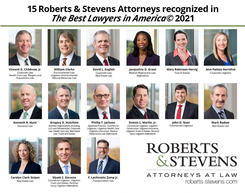 2021 Best Lawyers in America - Roberts & Stevens, Asheville, NC
