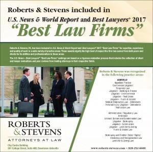 Roberts & Stevens Best Law Firms 2017