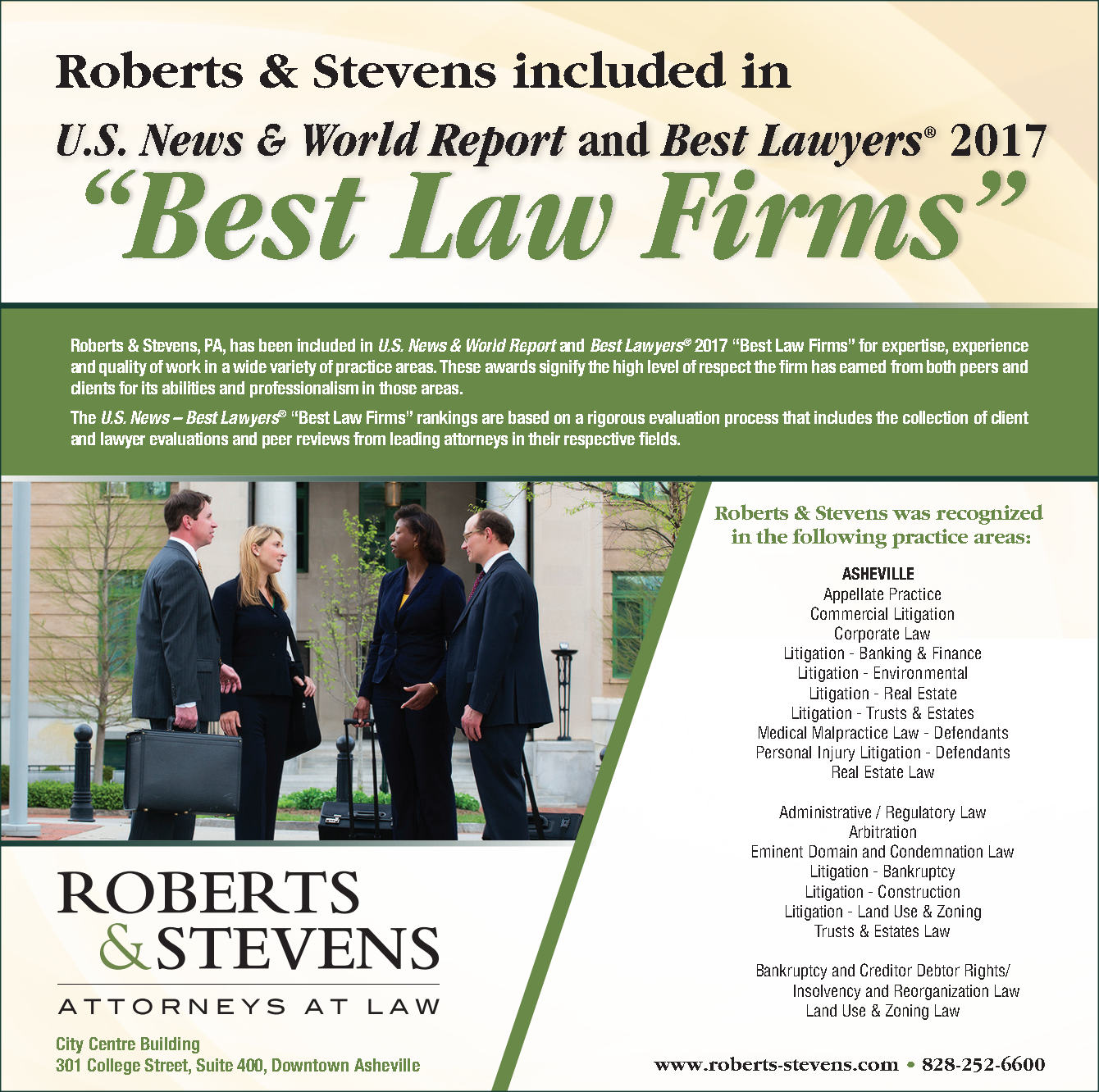 """Roberts & Stevens Attorneys Honored as """"Lawyer of the Year"""" and"""