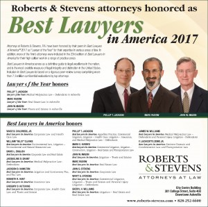 Roberts & Stevens Best Lawyers 2017