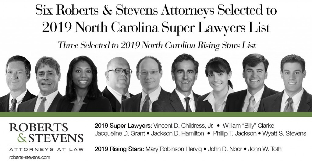 Roberts & Stevens NC Super Lawyers 2019